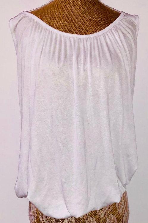 Bubble vest in White