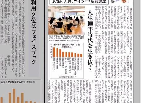【メディア掲載】日経MJ 弊社代表猪熊のSHE likesでの講演が掲載されています。