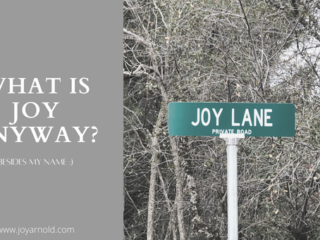 What Is Joy Anyway?