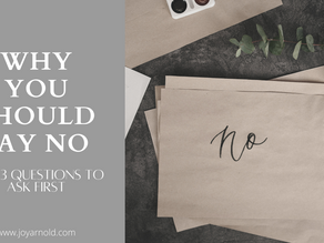 """Why Saying """"No"""" Is Just As Important As Saying """"Yes"""""""