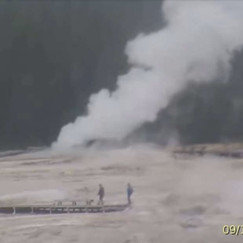 """A Huge Geyser Eruption In Yellowstone Just """"Coughed Up"""" Some Very Strange Objects"""