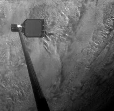 See The Moment A Satellite Successfully Harpoons Space Debris