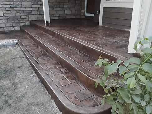 Stamped Cement Brown Steps .jpg