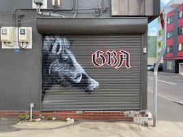 鉄板焼きとステーキ GBA 壁アート