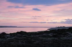 Coup du soir sur un estuaire breton