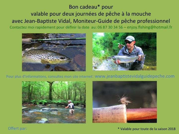 Bon cadeau pêche rivière