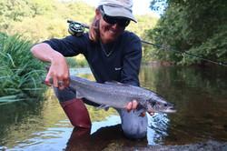 Premier saumon dans la vie de Claire