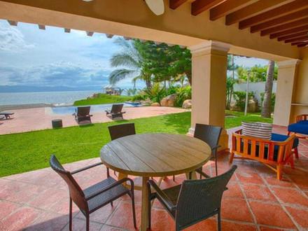 Incredibly rare beachfront home in Puerto Vallarta.