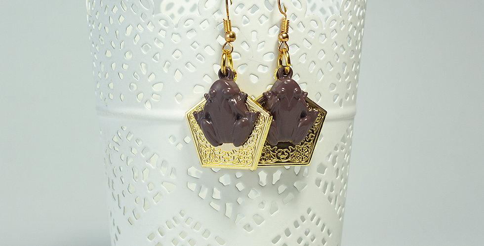 Brincos sapo de chocolate