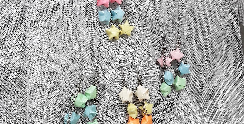 Brincos origami mitsu hoshi