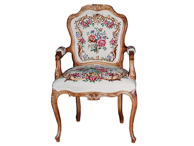 Louis XV Tub Chair – Hand Crafted Tapestry