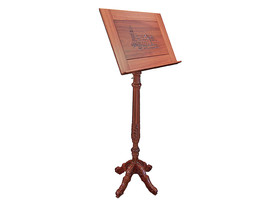 Hand carved/hand turned Jarrah Music Stand