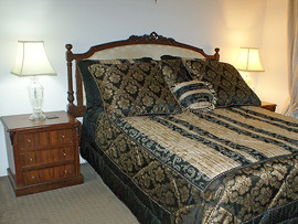 Louis XVI Style Headboard with Bedside Tables