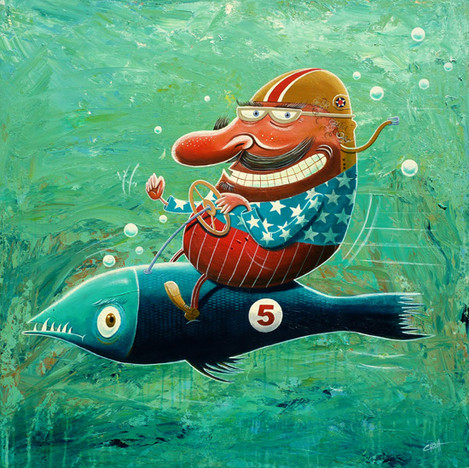 Ride the wild fish
