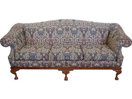Chippendale Sofa – (3 x div) Hand Carved Ball and Claw legs