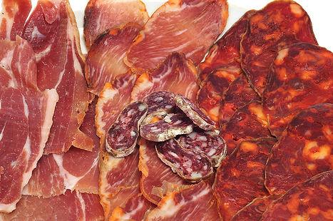Spanish cure meats, jamon, chorizo