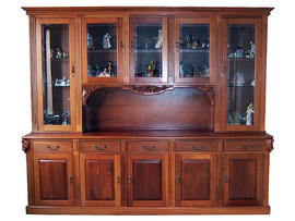 Display Cabinet with hand carved Gumnuts