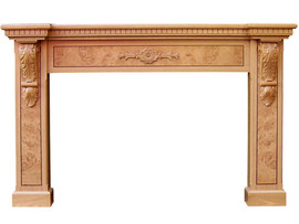 American Oak – With Burl Veneer inserts