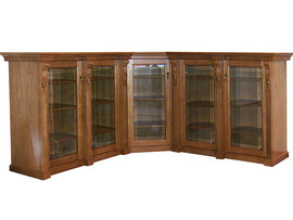 Display Corner Cabinet with hand carved Corbels