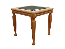 Side Lamp Table – Beveled glass top