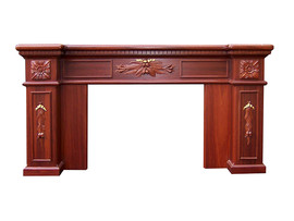 Fire Surround – Hand carved Gumnuts – Gold leave ribbons