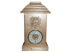 This Mantle Clock was designed for a client, who wanted the family crest engraved on the front