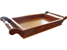 This tea tray is crafted in solid Jarrah and one of only two in existence
