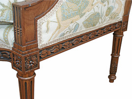 Hand Carving Detail – Louis XVI Arm Chair