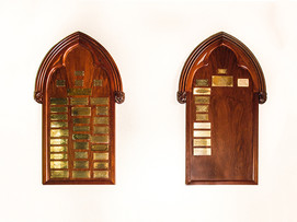 Hand Carved memorial boards