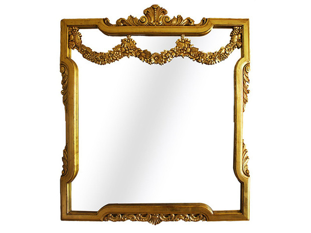 3kt Gold Leaf water gilded mirror frame