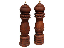Hand carved Salt and Pepper Shakers – turned by Alan Strange
