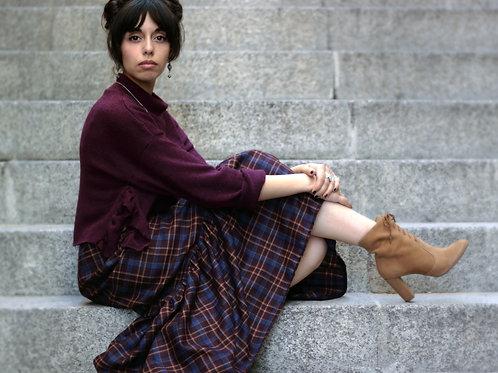 Inverness - Maxi Wool Tartan Skirt