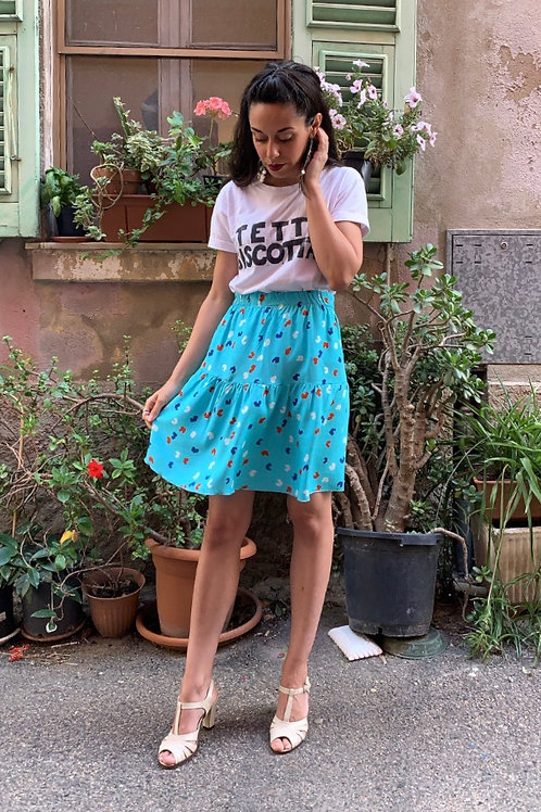 Celestina - Mini Cotton Printed Skirt