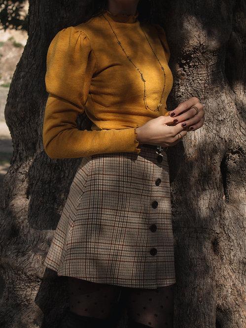 Gary - Pied de Poule Button Skirt
