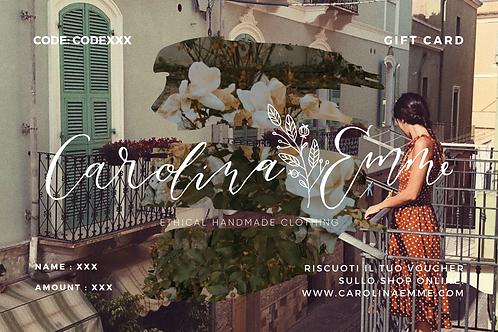 Gift card - Carolina Emme Voucher