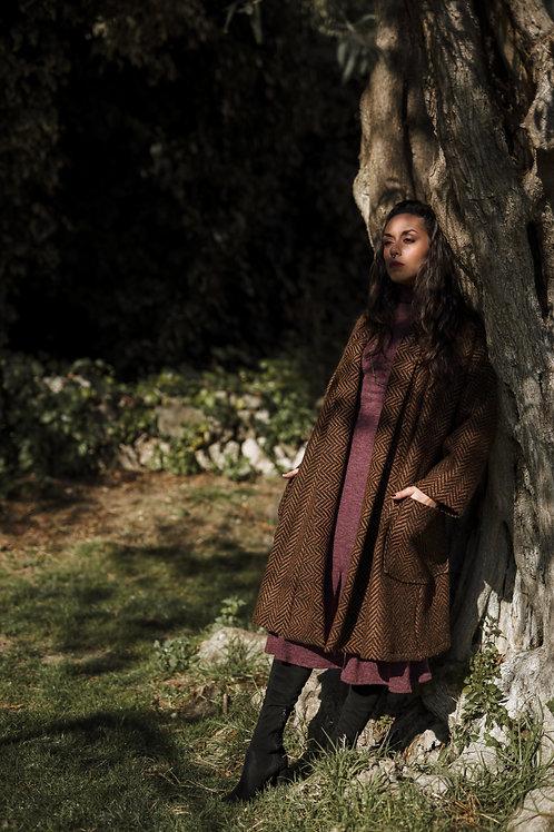 Howl - Maxi Black and Rust Coat
