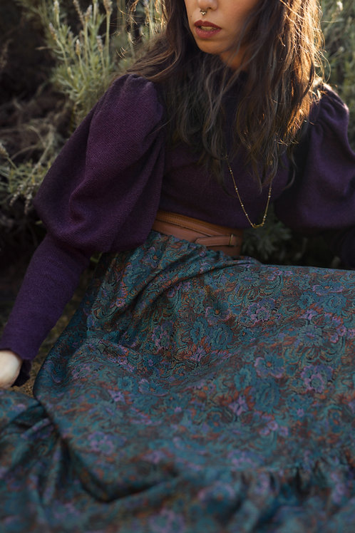Ingary - Maxi Wool Paisley Skirt