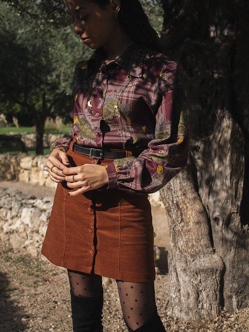 Michael - Moleskin Button Skirt