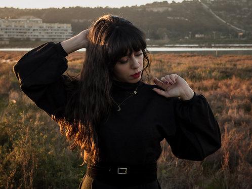 Marilla - Midi Black Dress