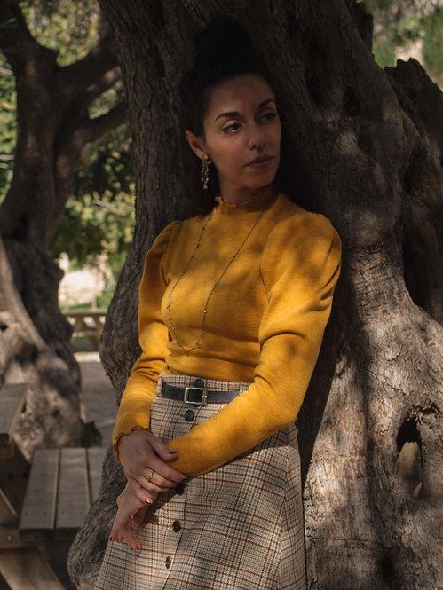 Rosemary - Puffed Sleeve Basic Sweater