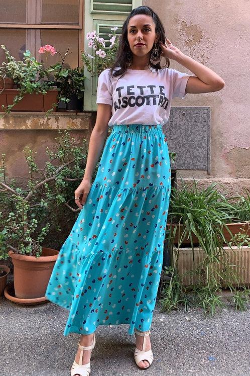 Celeste - Maxi Cotton Printed Skirt
