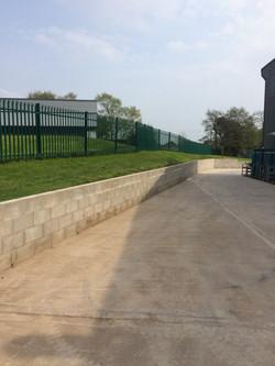Concrete Forecourts & Walls