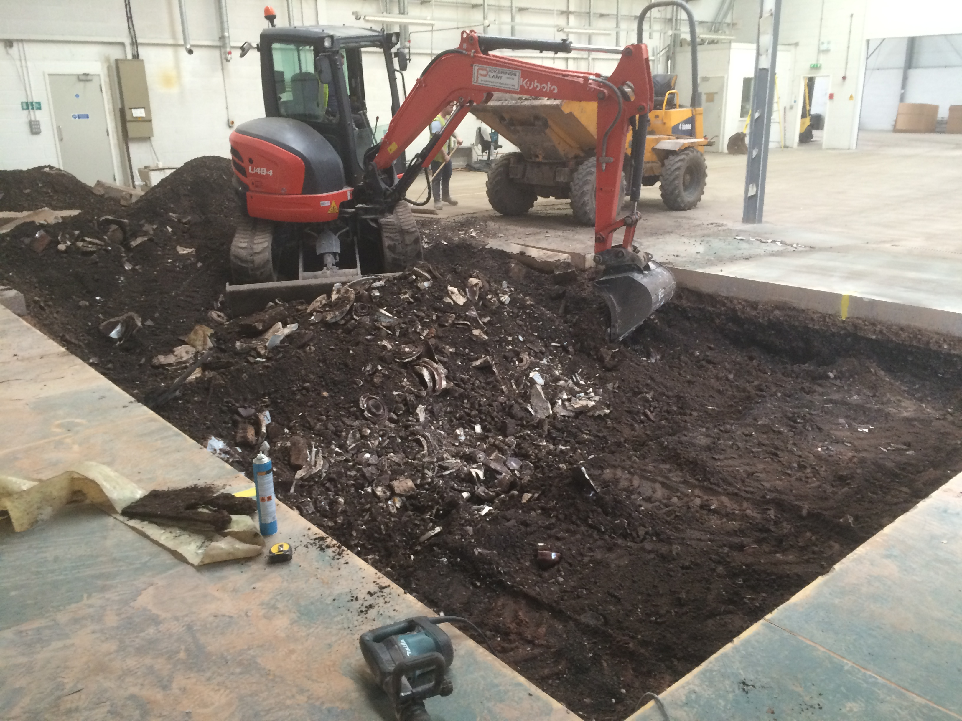Machine Pit Preparation