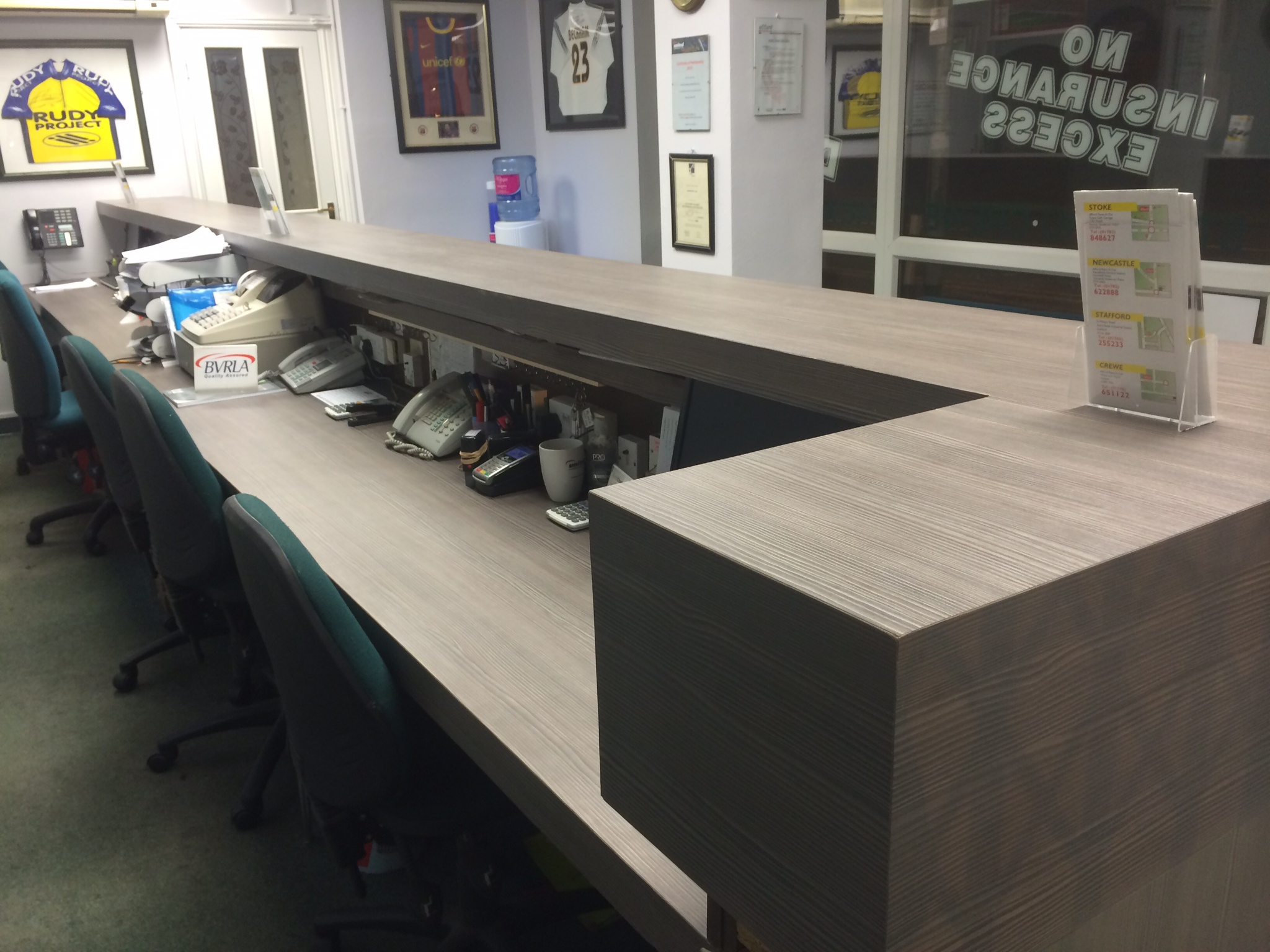 Reception Desk Installation