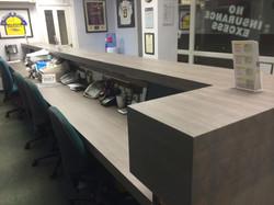 Reception Desk Installation