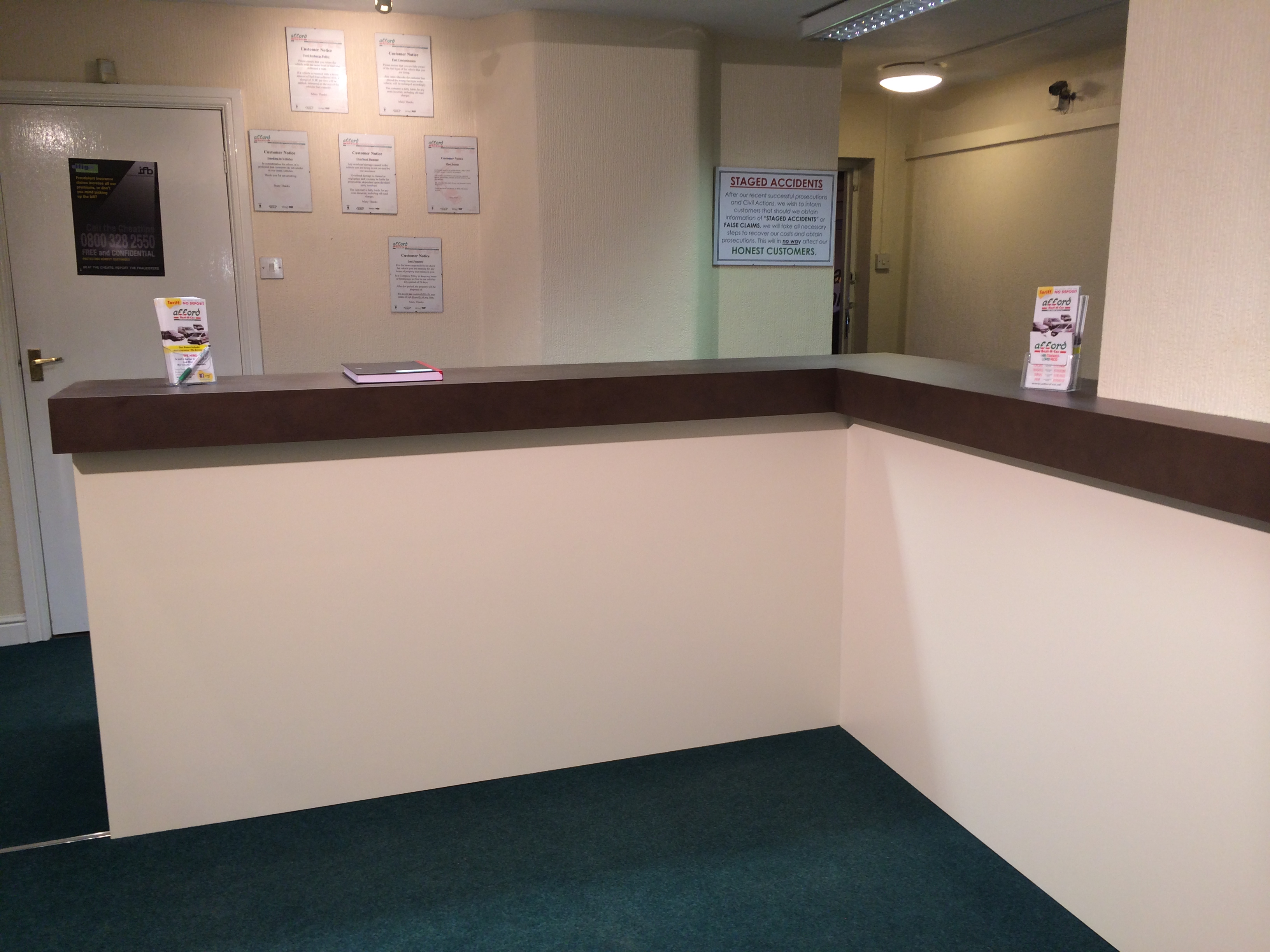 Entrance Counter Refurb