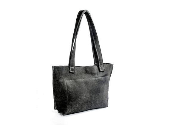 Big Leather Tote Shoulder Bag