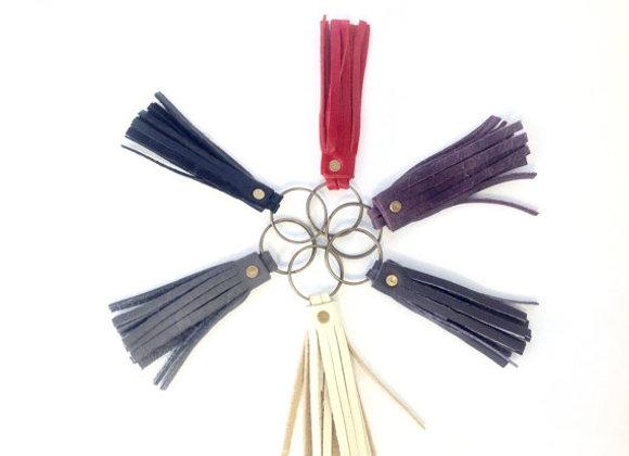Leather Tassels Keychain