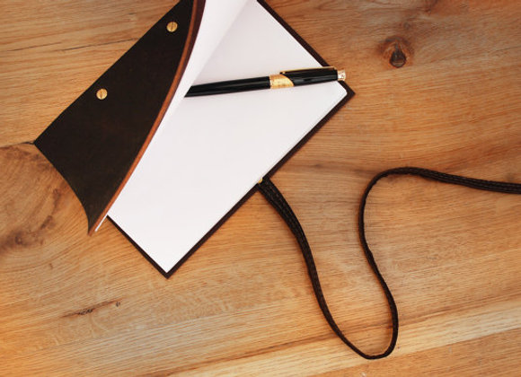 Dark Brown Leather Notebook Cover