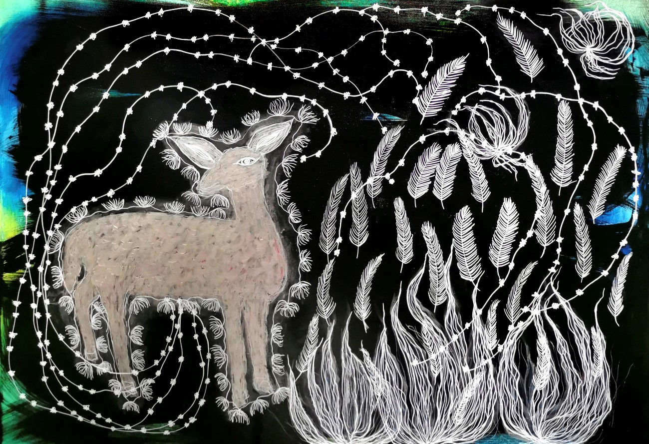 L'agneau Sacré. 98 x 130 cm